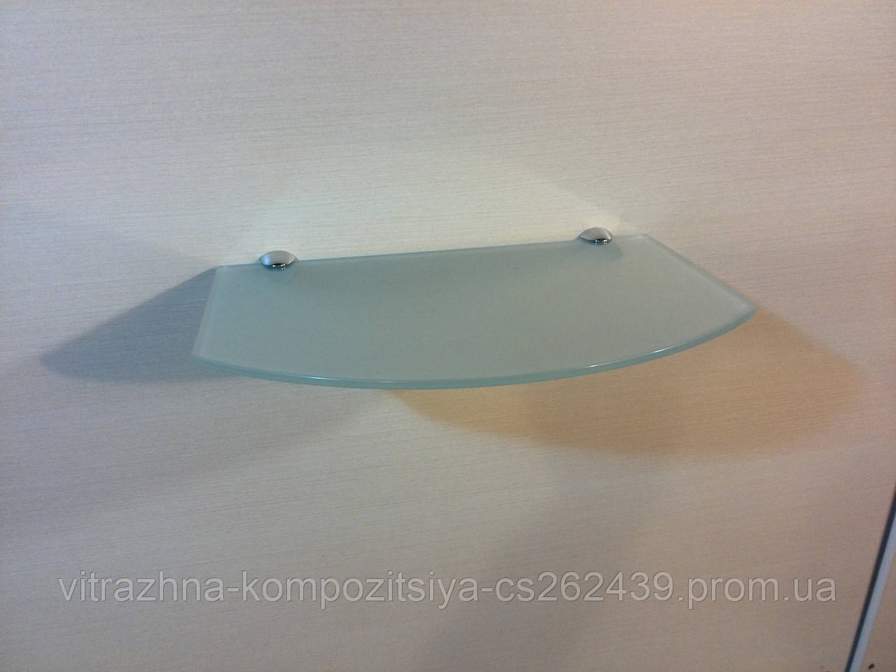 Полка стеклянная под тюнер матовая 5 мм 35 х 22 см