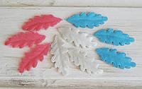 Листочек №1 украшение для скрапбукинга  4*2 см.