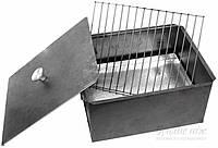 Коптильня одноярусная из метала с решеткой (горячее копчение)
