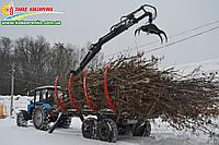 Прицеп лесовоз с манипулятором. Для перевозки веток, деревьев, бревен