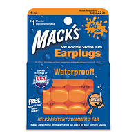 Детские беруши Waterproof Mack's, 6 пар