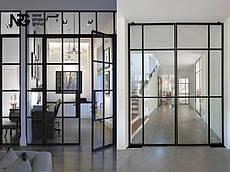 Стальные стеклянные двери
