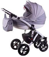 Детская коляска универсальная 2 в 1 Avila len 354W Adamex