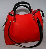 Красная женская сумка-шопер B.Elit с отстёгивающимся кошельком