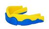 Капа боксерская Power Play  3301JR, желто-синий/yellow dark blue