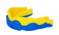 Капа боксерская Power Play  3301JR, желто-синий/yellow dark blue, фото 1