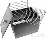 Коптильня двухъярусная из метала с решеткой (горячее копчение)