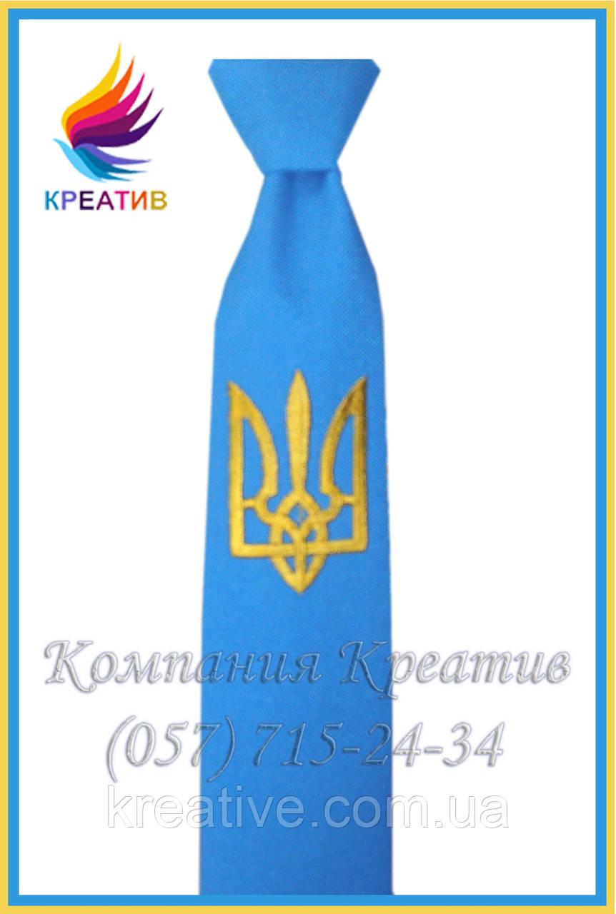 Галстуки с гербом Украины или Вашим логотипом (под заказ от 50 шт) с НДС