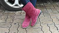 Комфортные ботинки из натуральной замши  бордового цвета, М-21 NEW М-21