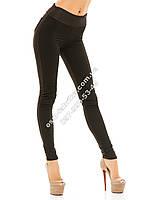 Модные стеганые лосины черные