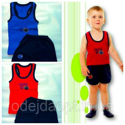 Детский летний комплект для мальчика (майка-борцовка+шорты) 1,2,3,4 года