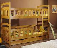 """Кровать двухъярусная из натурального дерева  """"Вини-Пух"""""""
