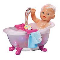 Интерактивная ванночка для куклы BABY BORN - ЗАБАВНОЕ КУПАНИЕ (свет, звук) 818183