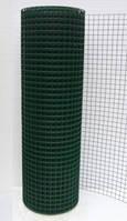 Сварная сетка с ПВХ  покрытием для ограждений и заборов. Ячейка 50х50, рулон 25м,высота 2м