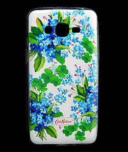 Чехол накладка для Samsung Galaxy J2 Prime G532 силиконовый Diamond Cath Kidston, Прекрасные незабудки