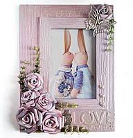 """Свадебная фоторамка """"Время любить"""" Подарок влюбленным на 14 февраля  8 марта или годовщину"""