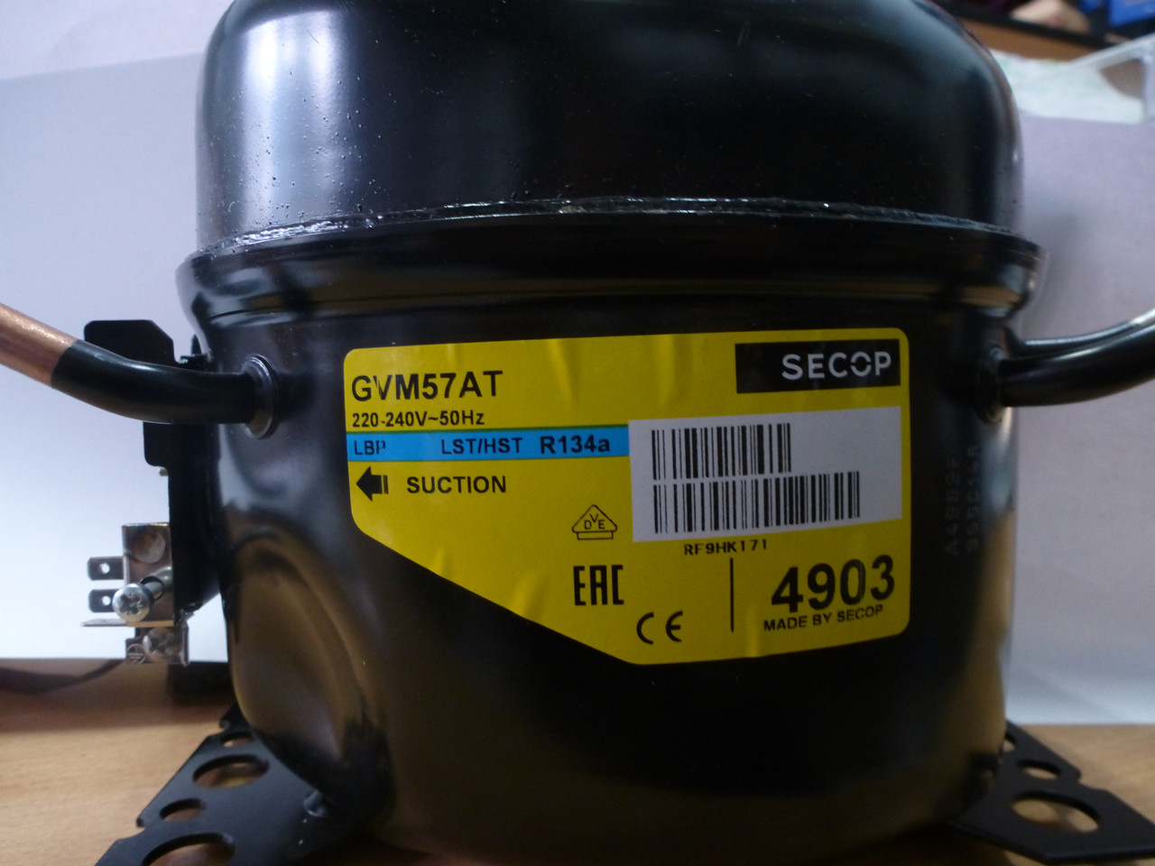 Компрессора SECOP GVM57AТ (R-134,-23,3t/153 Вт) Словакия  ,без гарантии -  опт