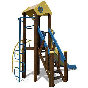 """Игровой комплекс желто-голубой """"Малыш- NEW"""" T801 NEW, фото 2"""