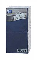 Бумажные салфетки синие Tork Advanced 2 слоя