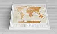 Скретч карта на украинском языке Travel Map Gold