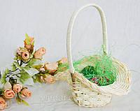 Пасхальный сувенир корзина ротанговая с 2 писанками. Пасхальное украшение, фото 1