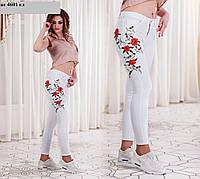 Джинсы женские с вышивкой ат 4601 гл