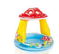 """Детский надувной бассейн Intex 57114""""Гриб""""102x89 см с надувным дном"""