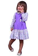 Платье  детское    М -983 рост 80-98  с длинным рукавом