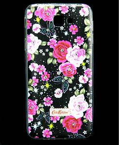 Чехол накладка для Samsung Galaxy J5 Prime G570 силиконовый Diamond Cath Kidston, Ночные розы