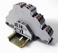 Клемма пружинная трехъярусная сеч. 2,5 мм2 серии OPK на DIN-рейку
