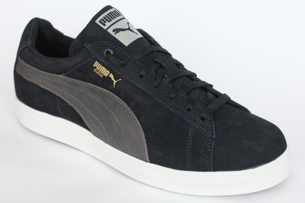 Подростковые  кроссовки  черный нубук
