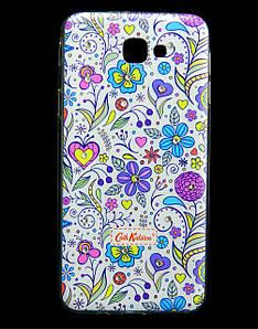 Чехол накладка для Samsung Galaxy J5 Prime G570 силиконовый Diamond Cath Kidston, Цветочная фантазия
