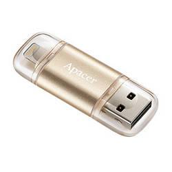 Флешка Apacer AH190 Lightning Dual USB 3.1 32GB Gold