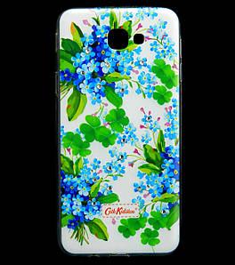 Чехол накладка для Samsung Galaxy J5 Prime G570 силиконовый Diamond Cath Kidston, Прекрасные незабудки