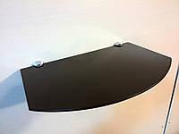 Полка стеклянная под тюнер коричневая 5 мм 35 х 22 см