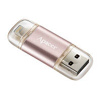 Флешка Apacer AH190 Lightning Dual USB 3.1 16GB Rose Gold