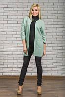 Пиджак удлиненный женский  мята