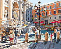 Картина для рисования Идейка Рим Фонтан Треви Худ Ричард Макнейл (KH2152) 40 х 50 см