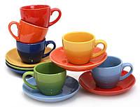 Набор кофейный (6 чашек и 6 блюдец) 312-B17