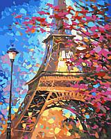 Картина по номерам без коробки Идейка Краски весеннего Парижа худ Афремов Леонид (KHO2129) 40 х 50 см