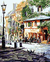 Картина раскраска по номерам без коробки Идейка Италия Летнее кафе Худ Ричард Макнейл (KHO2150) 40 х 50 см (Без коробки)