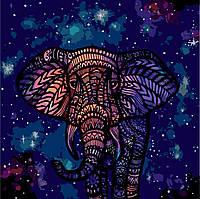 Раскраска по номерам без коробки Идейка Созвездие слона  (KHO2473) 40 х 40 см