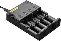 Зарядное устройство Nitecore I4 charger с адаптером 12V для авто зарядки