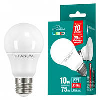 LED лампа TITANUM А60 10W E27 4100K 220V