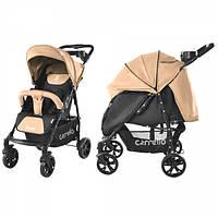Детская Прогулочная коляска CARRELLO Forte - легкая алюминиевая рама, корзина, столик для мамы, Бежевая
