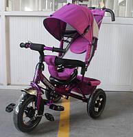 Трехколесный велосипед TILLY Trike T-364 надувные колеса,фиолетовый