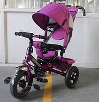 Триколісний велосипед TILLY Trike T-364 надувні колеса,фіолетовий