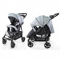 Детская Прогулочная коляска CARRELLO Forte - легкая алюминиевая рама, корзина, столик для мамы, Белая