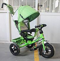 Триколісний велосипед TILLY Trike T-364 надувні колеса,зелений