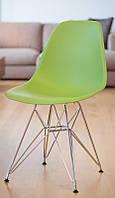 Стул Tower green (Тауэр зеленый, ножки хромированные, размер 54х46,5х80,5 см   Стул Eames Style DSR зеленый